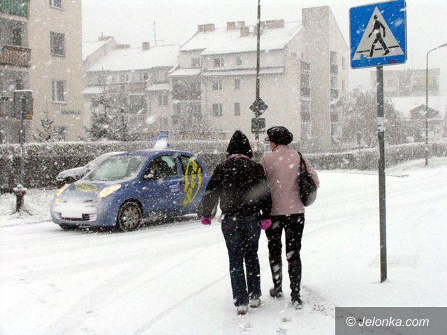Region Jeleniogórski: Atak zimy w stolicy Karkonoszy