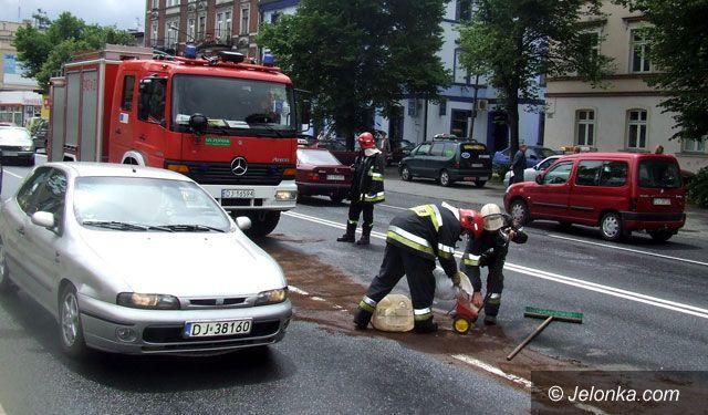 JELENIA GÓRA: Ale plama w śródmieściu