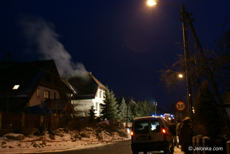Jelenia Góra: Pożar od komina