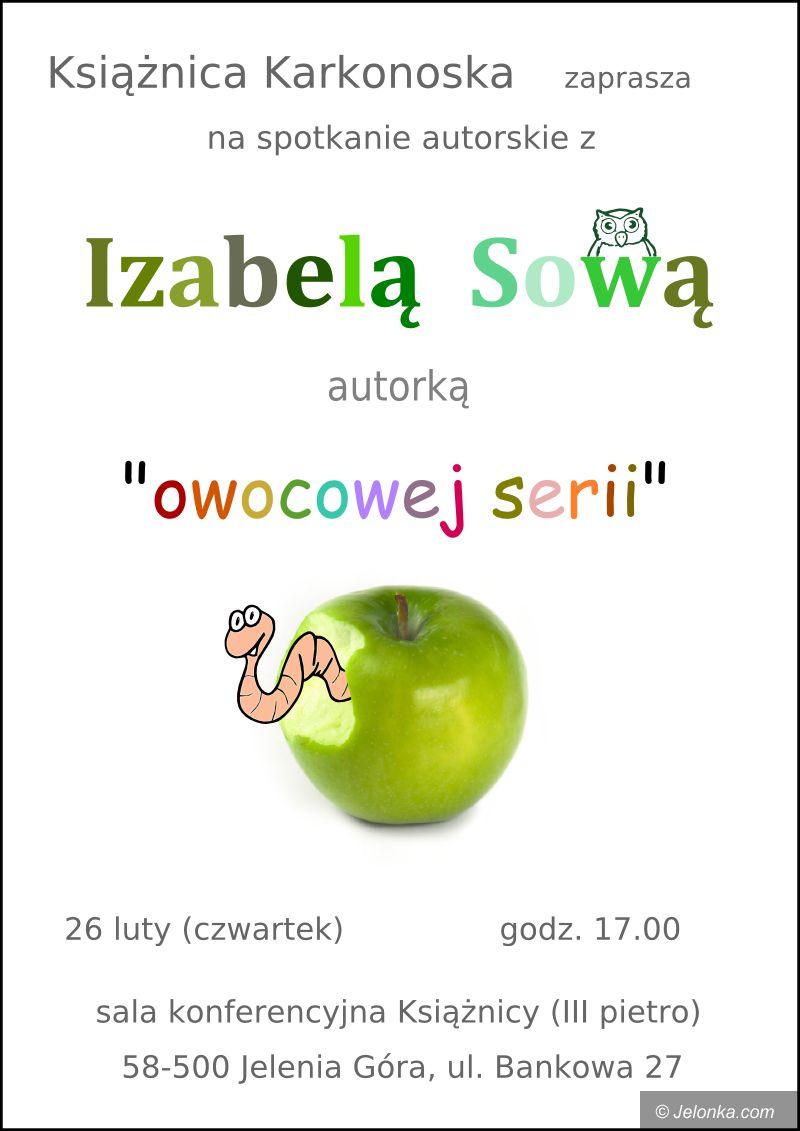 JELENIA GÓRA: Owocowe książki Izabeli Sowy w książnicy