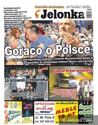 Jelenia Góra/region: Tygodnik Jelonka.com od poniedziałku