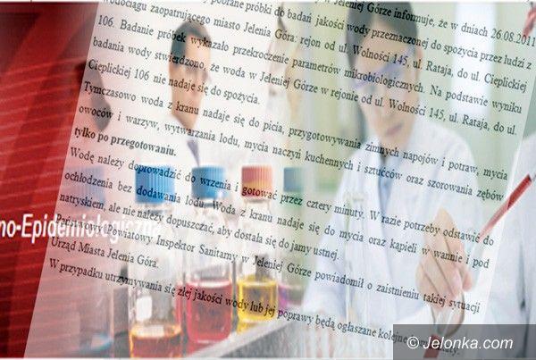 JELENIA GÓRA: Kranówka tylko z chlorem. Bez E. coli