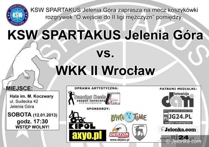 Jelenia Góra: Spartakus podejmie WKK