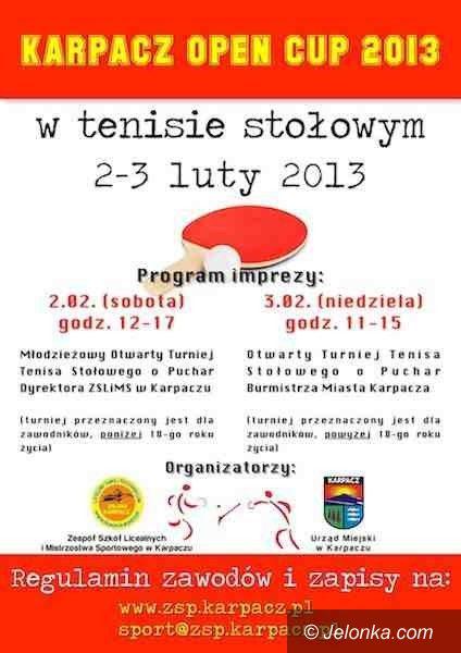 Karpacz: Karpacz Open Cup 2013 – czyli dwudniowe zmagania w tenisie stołowym