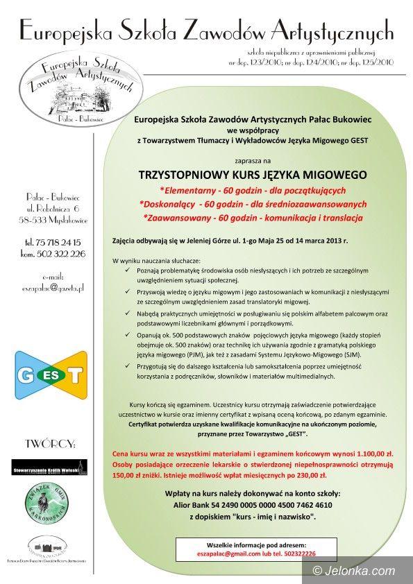 Jelenia Góra/region: Nauczą języka migowego