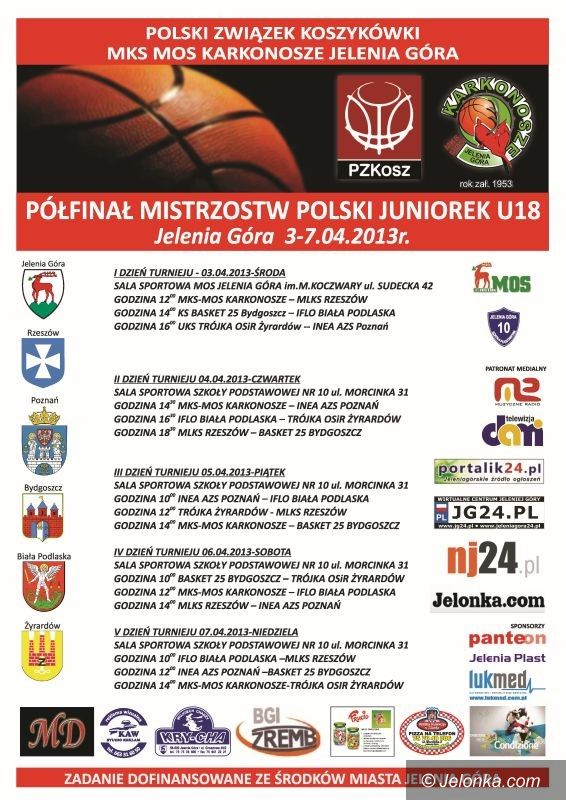 Jelenia Góra: Półfinały mistrzostw Polski od środy do niedzieli w Jeleniej Górze