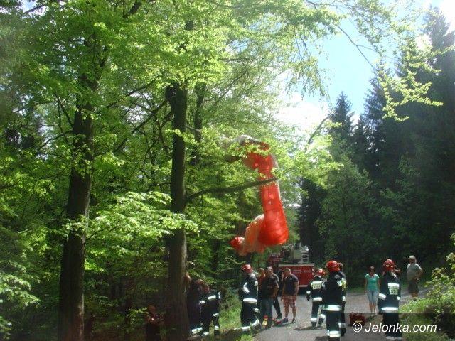 Świeradów Zdrój: Paralotniarz zawisł na drzewie w okolicach Świeradowa Zdroju