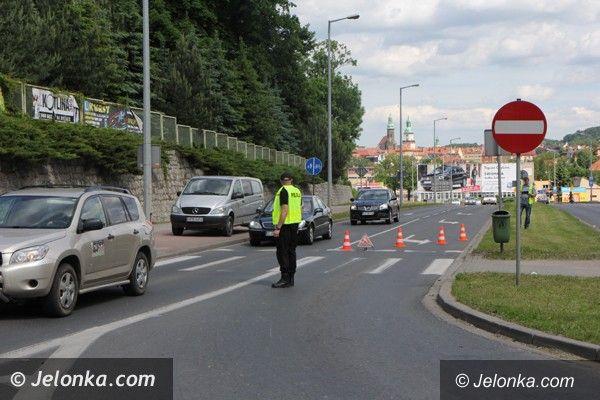Jelenia Góra: Wypadek na ul. Sobieskiego w Jeleniej Górze