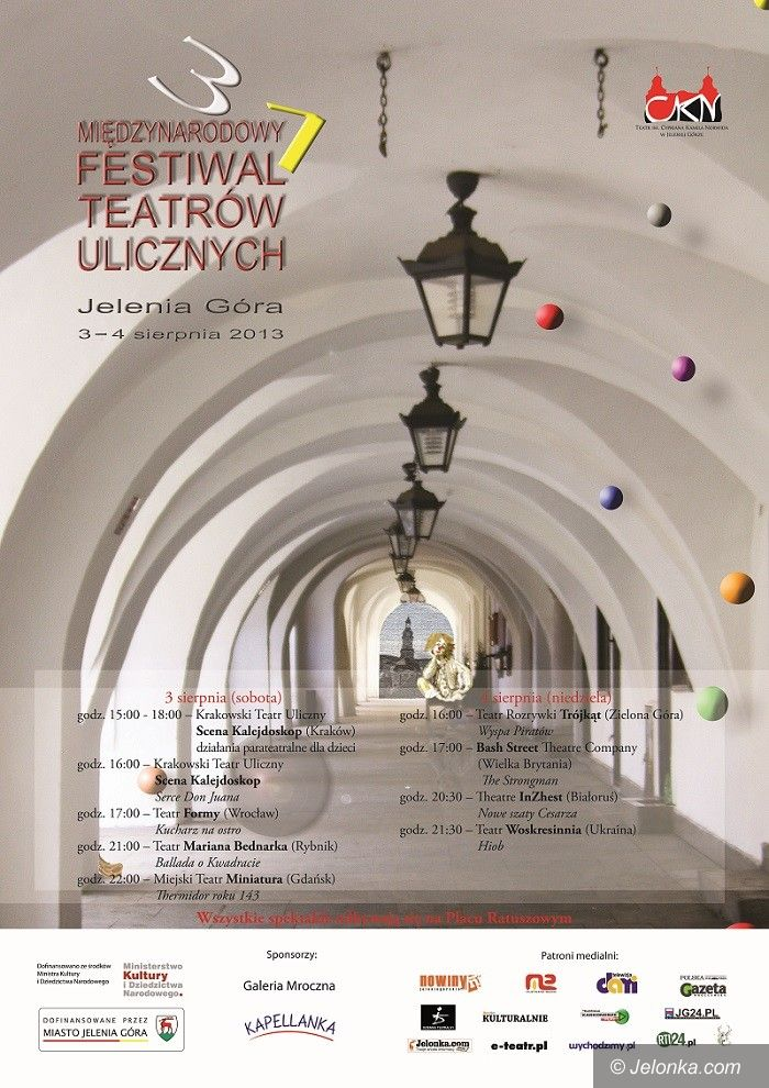 Jelenia Góra: Teatry hasające po ulicach już wkrótce (program)