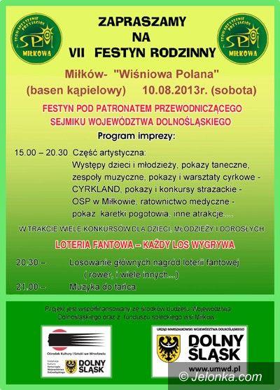 Region: Festyn Rodzinny na Wiśniowej Polanie w Miłkowie