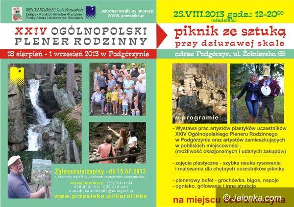 Przesieka: Plener Rodzinny i Piknik ze Sztuką przy Dziurawej Skale w Przesiece