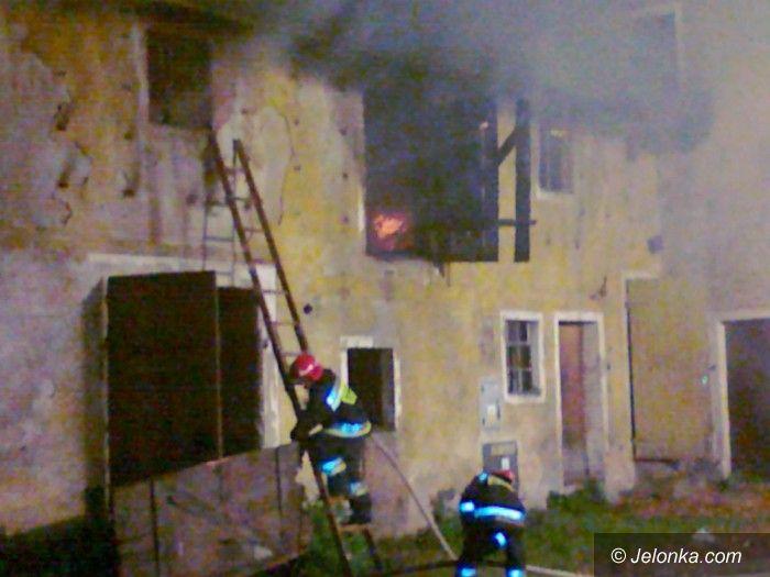 Kowary: Płonął kolejny pustostan w Kowarach