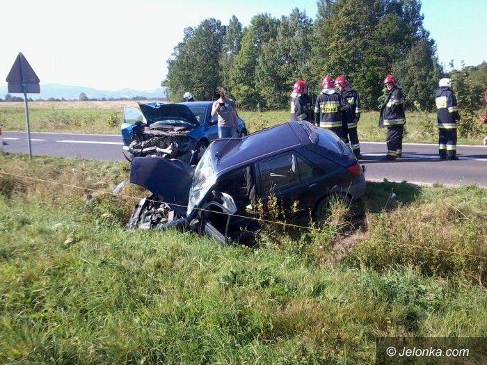 Podgórzyn: Zderzenie dwóch aut w Podgórzynie
