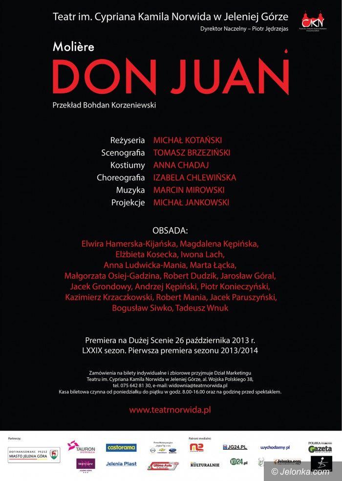 """Jelenia Góra: """"Don Juan"""" pierwszą premierą sezonu 2013/2014 w Norwidzie"""