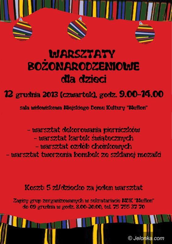 Jelenia Góra/Sobieszów: Przyjdź na warsztaty bożonarodzeniowe