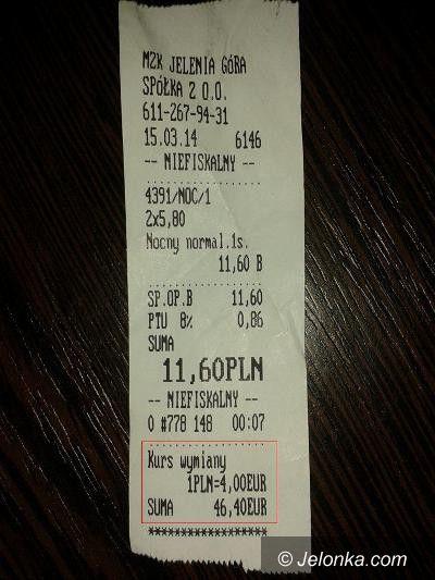Jelenia Góra: Prawie 50 euro za… przejazd autobusem  MZK?