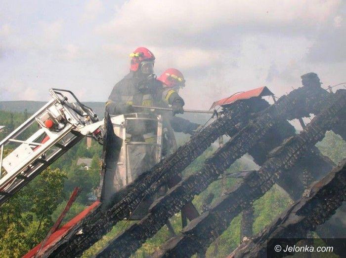 Karpacz: Pożar byłego hotelu w Karpaczu
