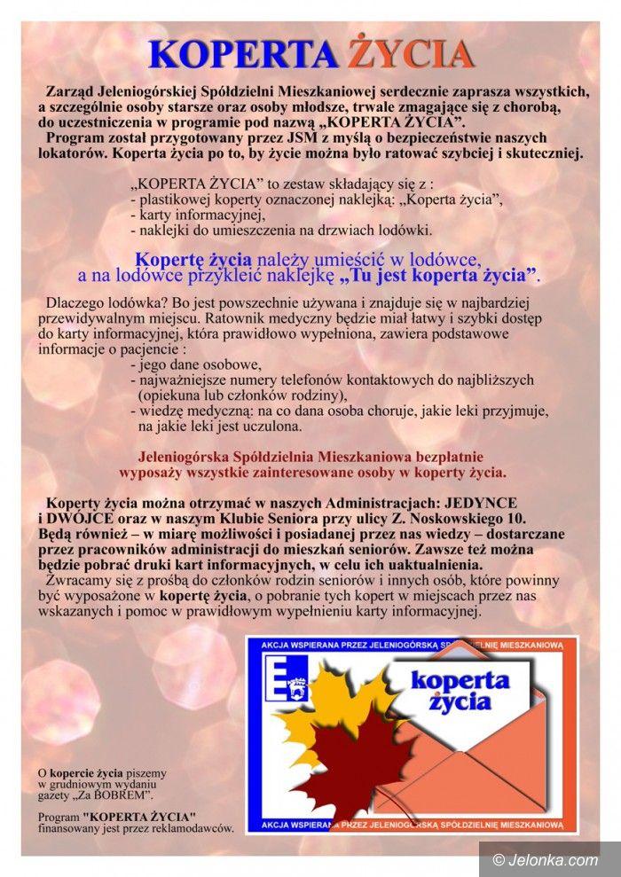 "Jelenia Góra: JSM rozdaje ""koperty życia"""