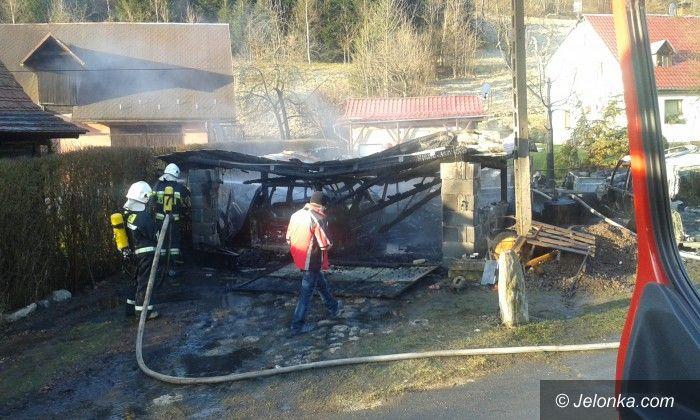 Piechowice: Spłonął garaż z samochodem w Górzyńcu
