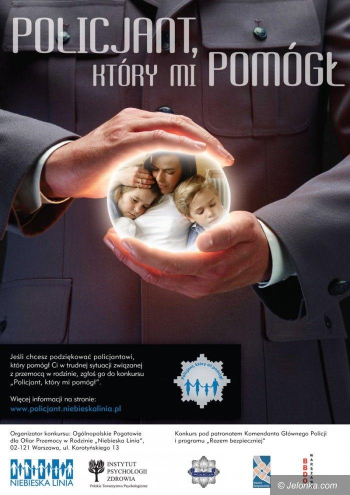 Kraj: Zagłosuj na policjanta, który ci pomógł