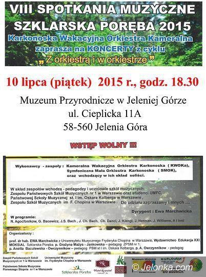 """Jelenia Góra: """"Z orkiestrą i w orkiestrze"""" w Muzeum Przyrodniczym"""