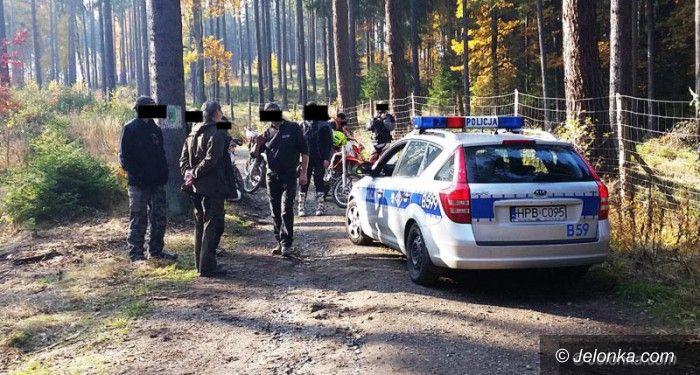 Region: Ukarani za jazdę motocyklem po lesie