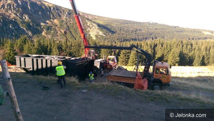 Region: Karkonosze: remont górskiej oczyszczalni