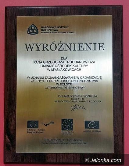 Mysłakowice: Gminny Ośrodek Kultury w Mysłakowicach wyróżniony