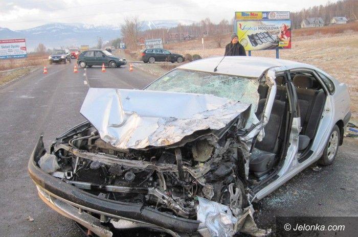 Region: Groźny wypadek na drodze do Karpacza