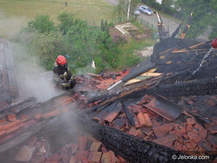 Jelenia Góra: Pożar domu przy ul. PCK