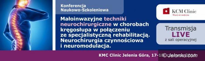 Jelenia Góra: Konferencja z transmisją z sali operacyjnej