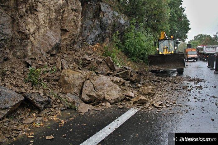 Region: Odłamki skalne osunęły się na drogę w Rybnicy