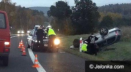 Region: Pijany kierowca wjechał do rowu i dachował