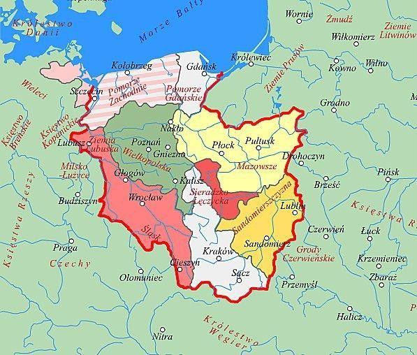 Podział dzielnicowy Polski