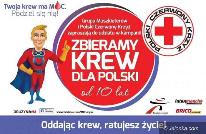 Jelenia Góra: Zbiórka krwi z Grupą Muszkieterów