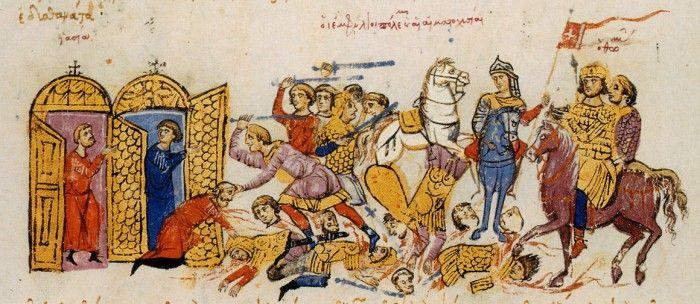 Wojownicy słowiańscy w walce z bizantyjczykami