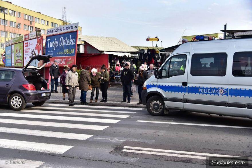 Jelenia Góra: Potrącenie pieszej na pasach