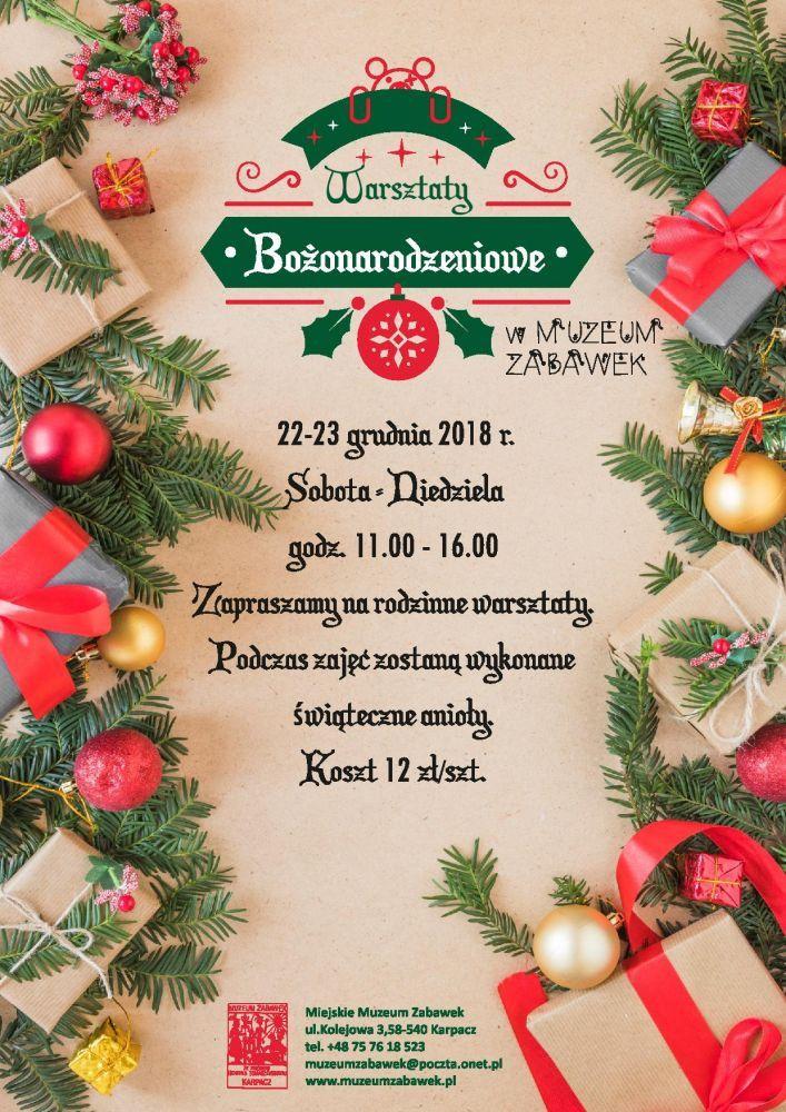 Karpacz: Warsztaty bożonarodzeniowe w Muzeum Zabawek
