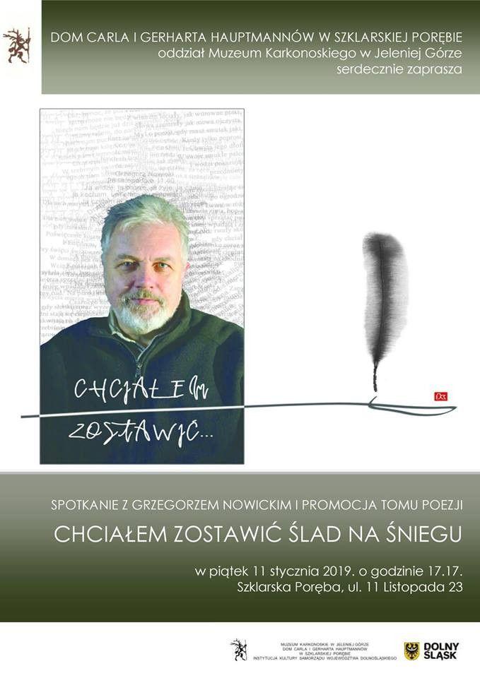 Szklarska Poręba: Spotkanie z Grzegorzem Nowickim u Hauptmannów