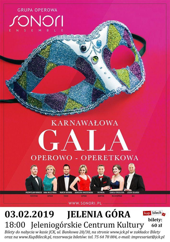 Jelenia Góra: Karnawałowa Gala Operowo–Operetkowa w JCK