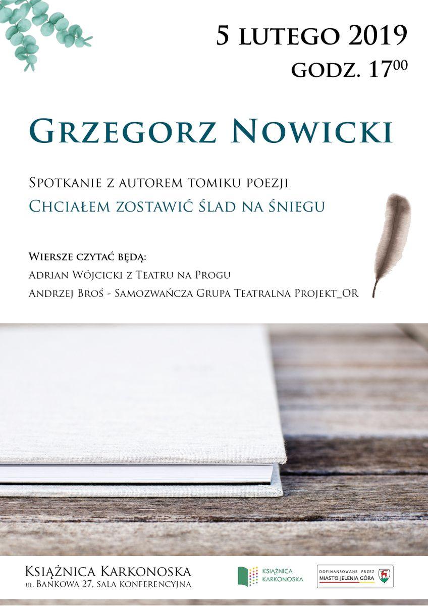 Jelenia Góra: Spotkanie z Grzegorzem Nowickim