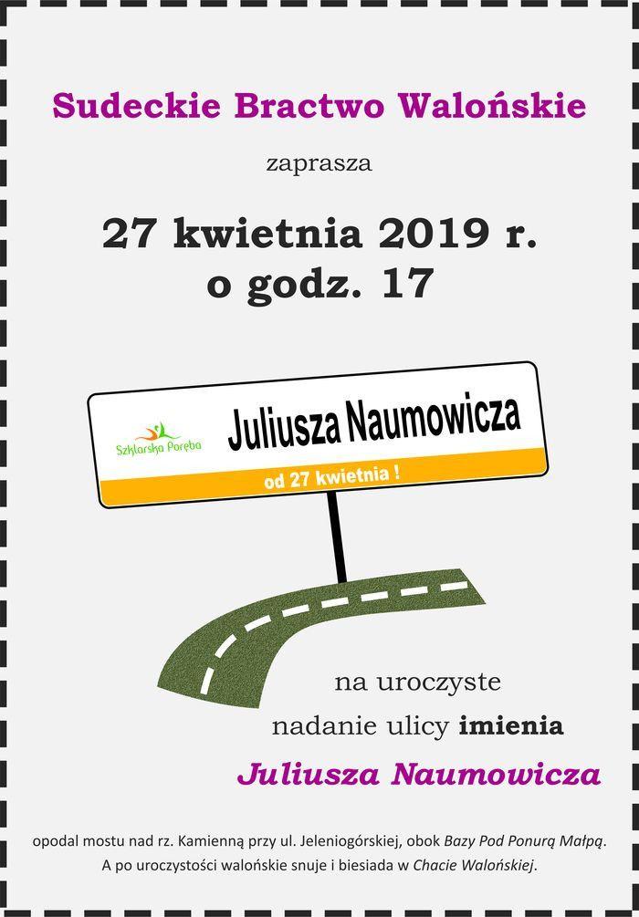 Szklarska Poręba: Juliusz Naumowicz patronem ulicy