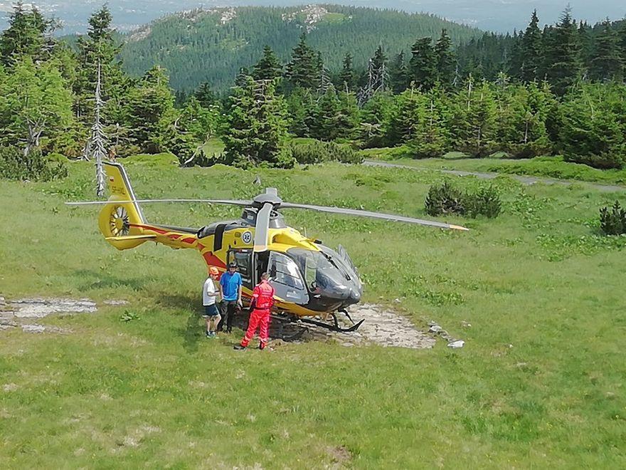 Region: Akcja ratownicza na Przełęczy Karkonoskiej