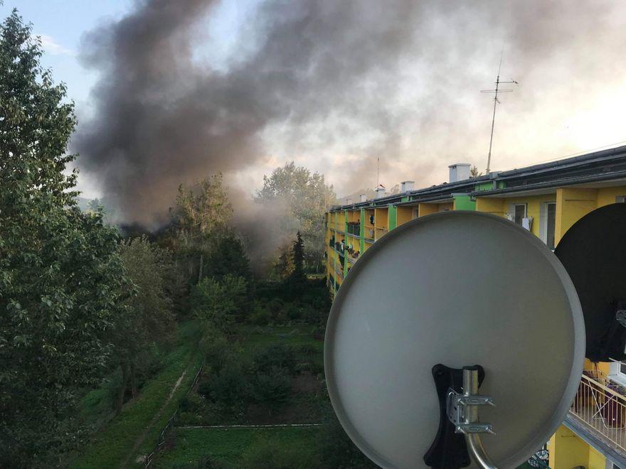Jelenia Góra: Pożar szopy przy ul. Kolberga