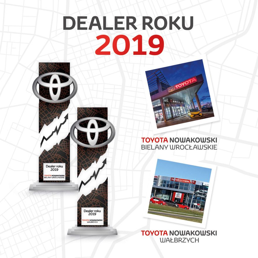 Jelenia Góra: Toyota Nowakowski podwójnym Dealerem Roku 2019