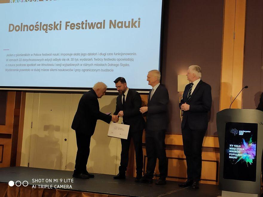 Wrocław: Dolnośląski Festiwal Nauki laureatem konkursu Popularyzator Nauki 2019