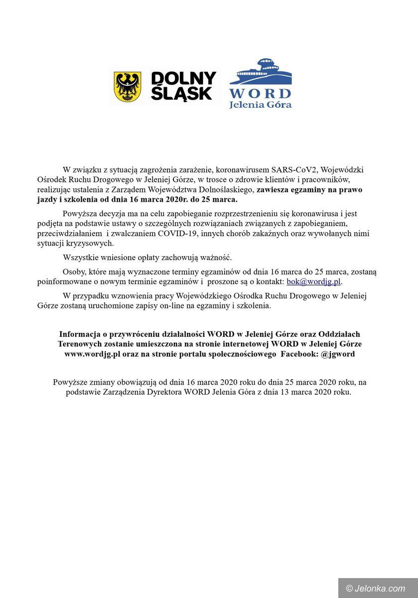 Jelenia Góra: Egzaminy na prawo jazdy zawieszone