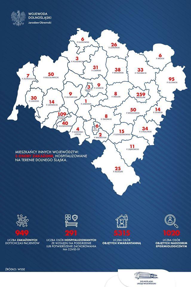 Region: Rośnie liczba zakażonych
