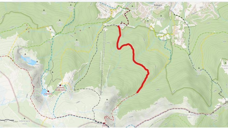Karpacz: Remont na szlaku do schroniska Nad Łomniczką