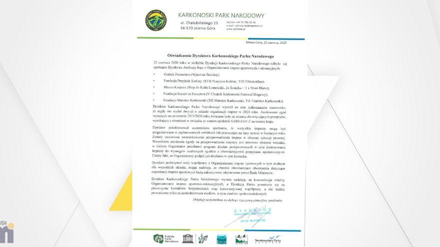 Jelenia Góra: Czy odbędą się imprezy sportowe w Karkonoszach?
